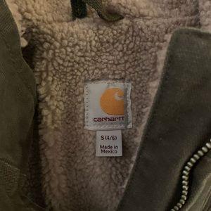 Carhartt Sandstone Mock-Neck Vest/Sherpa Lined